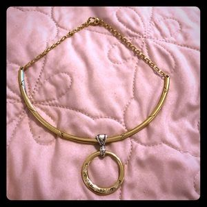 Retired Gold Brighton Choker Pendent Necklace